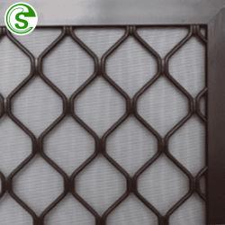 粉の上塗を施してある黒7mmアルミニウムWindowsの格子陽極酸化の青銅のアルミニウムダイヤモンドのグリル