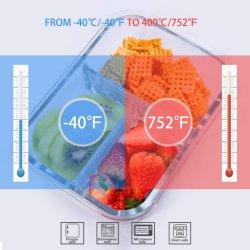Морозильной камере печи безопасной боросиликатного стекла ланч-бокс контейнер для хранения продуктов