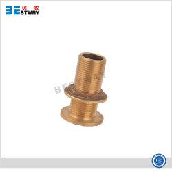 Rosca macho para tubos de pele de bronze naval