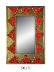 50x70 cm creativos modernos de metal de oro de piedra color personalizada decoración espejo de pared