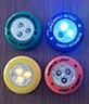 Empuje táctil LED Lámpara de Calabaza Halloween iluminación decorativa LED