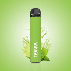 휴대용 디자인 컴팩트한 크기 슬림 모양 일회용 Vape 펜 P20 Vangu는 전자제품 담배를 800퍼프 생산했습니다
