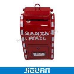 Настраиваемые формы Санта Клауса утюг металлическую коробку для рождественских подарков