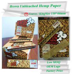 50 folletos personalizados cáñamo orgánico documentos de laminación de cigarrillos
