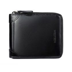 Новая натуральная кожа мужчин в бумажнике держатель карточки Wallet медали кошелек