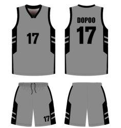 Haut de la qualité polyester personnalisé de gros de kits pour l'Académie de basket-ball