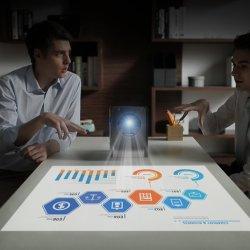 Интерактивный проектор Multi-Touch в любом месте хорошего качества проектор для настольных ПК