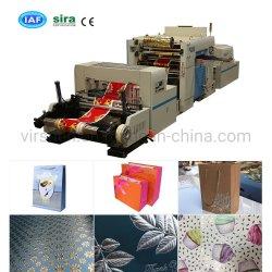 Le rouleau à rouleau Full-Automatic hot stamping Machine à Papier de cadeau chiffon en plastique