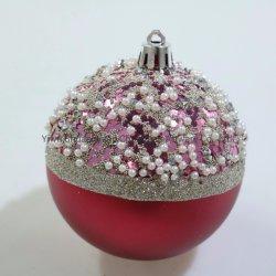 عيد ميلاد المسيح كرة بلاستيكيّة مع يد يدهن تصميم جديدة