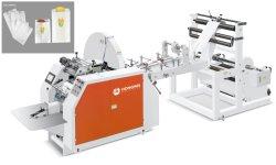 Alimentación de Papel en Rollo Completamente Automática con M Fuelle V Fondo Plano Panadería Marrón Kraft Máquina para Fabricar Bolsas de Papel para Alimentos P