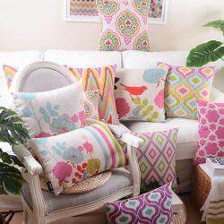 正方形の綿のリネン快適で贅沢な綿のリネン投球枕クッション