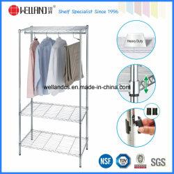 Современный дизайн хром металлический шкаф с одеждой K/D упаковка