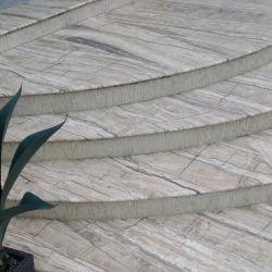 Paso de piedra pulida, natural de escalera de mármol verticales para el exterior/interior