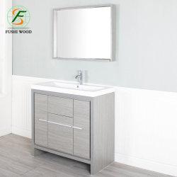 Armoire du tableau moderne salle de bains avec miroir (montés sur le sol)