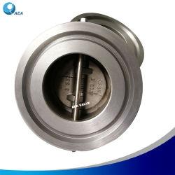API 594 Super bronce aluminio acero inoxidable Dúplex cuerpo espolón de la placa de doble resorte tipo doble disco oblea de brida de la válvula de retención