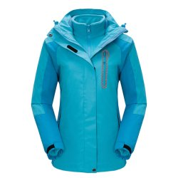 As mulheres à prova ao ar livre 3 em 1 Velo Jaqueta casaco de Inverno interior