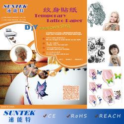 Wasser-Übergangstemporäres Tätowierung-Papier für Nagel-Kunst-Aufkleber-Abziehbilder