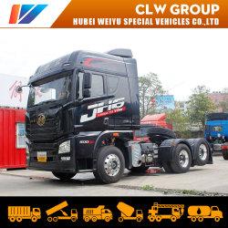 Transporte de carga de la suspensión de aire del eje trasero Liftable Globo 5 Euro 6X2 de 460HP 500HP FAW JH6 tractor camión de la cabeza
