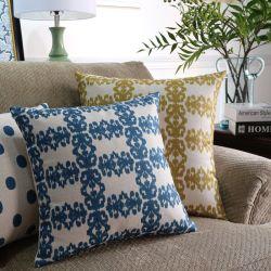 Cuscino pastorale dello strato del fiore di stile di rettangolo di tela del cotone di modo dei prodotti dell'hotel di Yrf