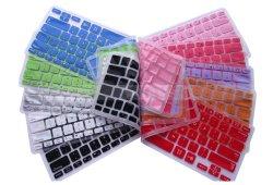 Clear Custom المحمولة لوحة مفاتيح سطح السيليكون غلاف نسخة الاتحاد الأوروبي الألوان غطاء لوحة مفاتيح من السيليكون لكتاب واقي الشاشة MacBook Air PRO