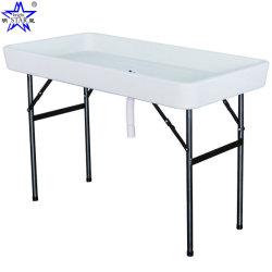 Partie refroidisseur de glace Table pliante Camp Pêche Nettoyage Table