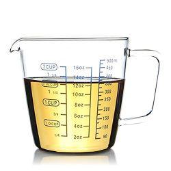 2 Чашка боросиликатного стекла мерный стаканчик с 50мл интервалы шкалы