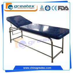 L'acier Examen de la table de massage lit du patient (dossier réglable) (CE/FDA/ISO) (GT-EXC05)