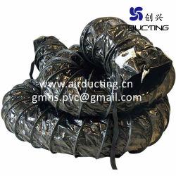 Espiral de PVC flexible de PVC de conductos de ventilación con una hélice de alambre de resorte de acero