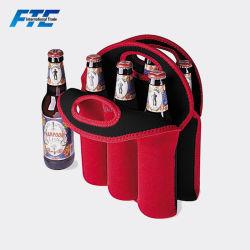 6 sac personnalisé peut refroidisseur refroidisseur de canette de bière en néoprène