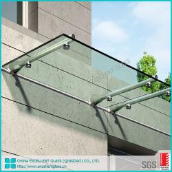 Edelstahl-Halter-Patio-Portal-Kabinendach milderte 12mm das freie Glas