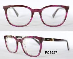 Lady Handmade acétate verres de lunettes avec pièce de métal