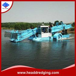 نهر/بركة/بحيرة/سدّ وبحيرة ينظّف ماليّة/مال [ويد] معدّ آليّ قصب زورق/زورق/سفينة/مرحل لأنّ عمليّة بيع تحت مائيّ معمل [وتر هسنث] حصّاد آليّة