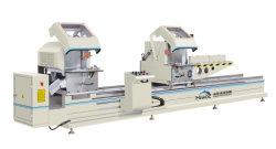 Alimentation en usine à double tête de scie de coupe de précision pour profilé en aluminium Ljz2s-500*4200 et en aluminium de type numérique UPVC scie de coupe en aluminium en PVC Porte fenêtre Machine
