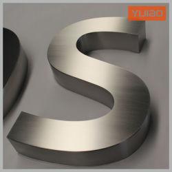 レーザーの広告オフィスのレセプションのための切口によってブラシをかけられる金属の経路識別文字