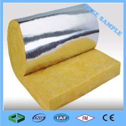 الطبقة الزجاجية المكب طبقة عازلة حرارية لبطانية الصوف الزجاجية عالية الجودة