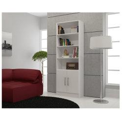 Дерева мебелью в противосажевом фильтре дисплей книжном шкафу с выдвижными ящиками