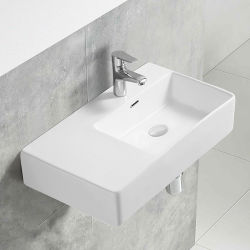 Badezimmer-Schrank-Kunst-keramisches Wannen-Handwäsche-Bassin mit Weiß