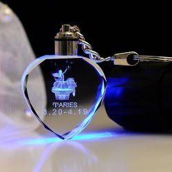 Brithday 결정 3D Laser Keychain를 위한 LED Laser Keychain