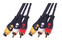 2 plugues RCA e S-VHS ligue para 2 Velas Rcs e plugue S-VHS