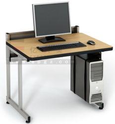 Moderner Entwurfs-hölzerner Computer-Schreibtisch mit Metallrahmen
