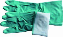 クリーニングまたは洗浄のための緑PVC世帯の手袋