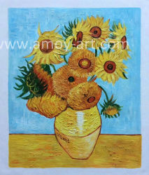 Поставляется напрямую размножения Ван Гог Sun Flower Картины маслом для дома украшения