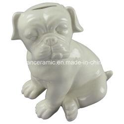 De dier Gestalte gegeven Ambacht van het Porselein, het Ceramische Spaarvarken van de Hond