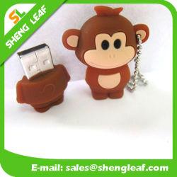 Привод вспышки USB резины выдвиженческого подарка прелестный цветастый (SLF-RU023)