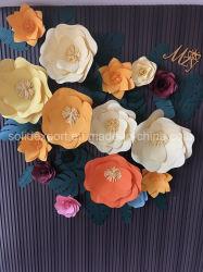 Casamento no exterior da parede de fundo Montra Decoração Decoração de flores de papel