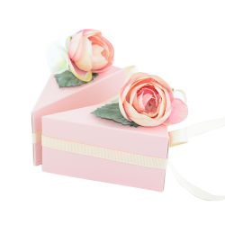 Fantastischer Papierhochzeits-Aroma-Geschenk-Kasten mit Farbband-Dekoration
