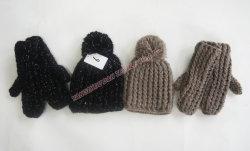 Qualitäts-Häkelarbeit-Hand, die gestrickten warmen Hut (YZDH-G107, herstellt)