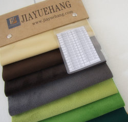 La imitación Gamuza sintética Fiocking Textil Material de la ropa de tejido de alta calidad