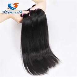 Alimentation de sortie de l'usine brésilien/cheveux vierges péruvien droites, 100 % des extensions de cheveux humains