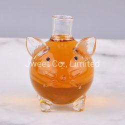 カスタムガラス現代ワインのウィスキーのデカンター100つのMlのびん